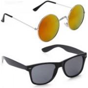 SRPM Round, Wayfarer Sunglasses(Yellow, Black)