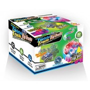 Mindscope Neon Glow in the Dark Twister Tracks Trax FLIP TRUCKS Flexible Assembly Track System w/12 feet of Track