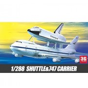 Academy airplane model US-12708 1/288 US space shuttle and 747 loaders