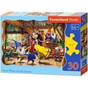 Puzzle cu 30 de piese Alba ca Zapada si cei sapte pitici 3754, Castorland