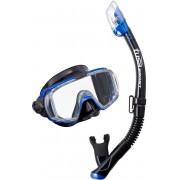 Visio Tri-EX UC-3125 Metallic Blue - zestaw maska + fajka + GRATIS