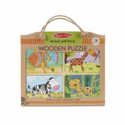 Primul meu puzzle eco din lemn Animalele - Melissa & Doug