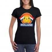 Bellatio Decorations Zwart Holland supporter kampioen shirt dames S - Feestshirts