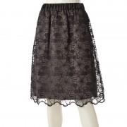PROSUMER オーガンジーフラワー刺繍スカート【QVC】40代・50代レディースファッション