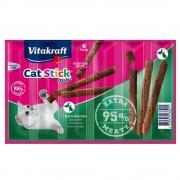 Vitakraft Cat Stick Mini snacks para gatos - Pavo y cordero (6 x 6 g)