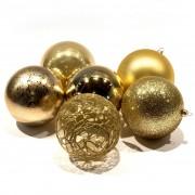Decorazioni di Natale - Set di 5 sfere oro usso, 10 cm