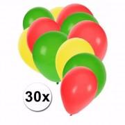 Shoppartners 30x Ballonnen in Kameroense kleuren