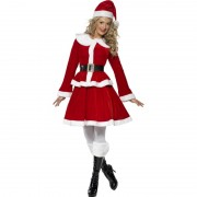 Luxe kerstvrouw kostuum