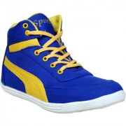 Sukun MenS Blue Yellow Casual Lace-Up Shoes (BP222BLY)