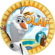 Disney Jégvarázs papírtányér Olaf nyár 8 db-os 23cm