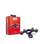 MOI - All in - Kit composto da Costrittori Polsi Costrittori Caviglie e Collare con Guinzaglio