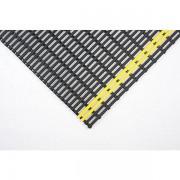 Certeo Anti-Rutschmatte - Recycling-PVC, pro lfd. m - Breite 600 mm, schwarz/gelb