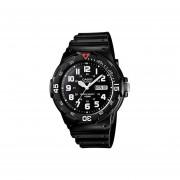 Reloj Casio MRW200 MRW200H-1BV Fechador - Negro / Blanco