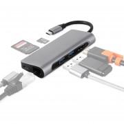 TY-02 Adaptador HUB Multipuerto USB-C / Type C 7 En 1 Con Salida HDMI