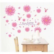 TipTop Wall Stickers Rosa blommor Mönster