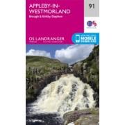 Wandelkaart - Topografische kaart 091 Landranger Appleby-in-Westmorland | Ordnance Survey