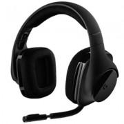 Геймърски слушалки logitech g533 dts, 7.1 surround sound, безжични, микрофон, черни, logitech-head-g533