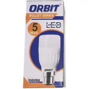 LED Bulb Pack of 2 Orbit 5 Watt White Bullet Series LED Bulb B22 Cap