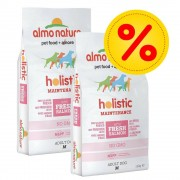 Almo Nature Holistic Fai scorta! 2 x 12 kg Almo Nature Holistic - Medium Adult con Salmone e Riso