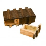 Magic Wooden Box with Extra Secure Secret Drawer Educational Toy for Children