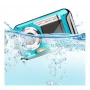EB 24MP Max 1080p Doble Pantalla Impermeable Camara Digital Camcorder-Azul
