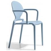 SCAB design SCAB Stoel Gio Armleuningen - Set Van 4 - Lichtblauw
