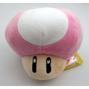 "Super Mario Bros Plush 4""/10.5cm Pink Mushroom Character Doll Stuffed Animals Figure Soft Anime Collection Toy"