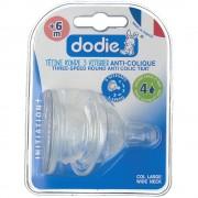dodie® Evolution breiter Sauger Anti-Kolik Flow 4 ab 6 Monate