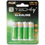 Techly Blister 4 Batterie High Power Stilo AA Alcaline LR06 1,5V