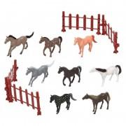 Geen 8x Plastic paarden speelgoed figuren voor kinderen