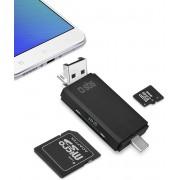 SBS TECARDREADOTGTC USB 2.0 Type-A/Type-C Zwart geheugenkaartlezer