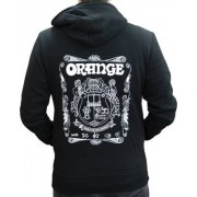 Orange Hoody Logo Black XL