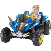 Ride-On Toy Battery Powered by Power wheels Features Batman Graphics, Wing Front Fenders and Secret Storage Compartment, Multi-Colored,