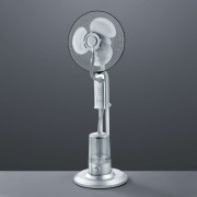 Andreas pedestal fan with a room humidifier