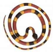Merkloos Grote rubberen speelgoed Python slangen bruin/geel 137 cm