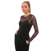 Red Valentino Body tulle Nero Poliammide Donna