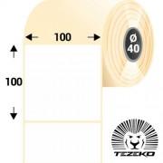 100 * 100 mm-es, 1 pályás papír etikett címke (400 címke/tekercs)