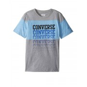 CONVERSE Colourblock Repeat Graphic Top Grey