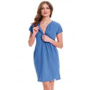 Lesley szoptatós hálóing, kék XL