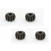 Lego Parts: Technic Gear 12 Tooth Double Bevel (PACK of 4 - Black)