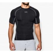 Under Armour HeatGear Compressie shirt - Heren (Zwart)