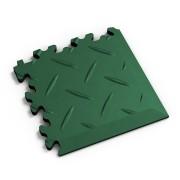 Zelený vinylový plastový rohový nájezd 2016 (diamant), Fortelock - délka 14 cm, šířka 14 cm a výška 0,7 cm