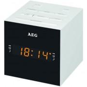 Radio cu ceas AEG MRC 4150 alb, Afisaj LED, port USB, timer