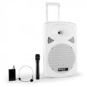 "Ibiza Port 12 VHF-BT 30cm (12"") Mobile PA-Anlage USB SD AUX MP3 Bluetooth weiß"