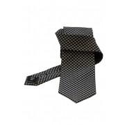 Cravata matase neagra cu tipar fin Gentlemen`s Corner - NOU!