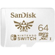 Micro SD Card, 64GB, SanDisk, microSDXC UHS-I Card for Nintendo Switch (SDSQXAT-064G-GNCZN)