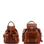 TUSCANY LEATHER Travel Set Leather Backpacks Trekker Honey - Tuscany Leather -
