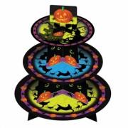 Halloween Black Cat & Pumpkin Cup Cake Tree Stand