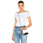 Helmut Lang Open Boat Neck Top in Blue. - size M (also in L,S,XS)
