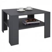 IDIMEX Table basse SEJOUR, en mélaminé gris mat